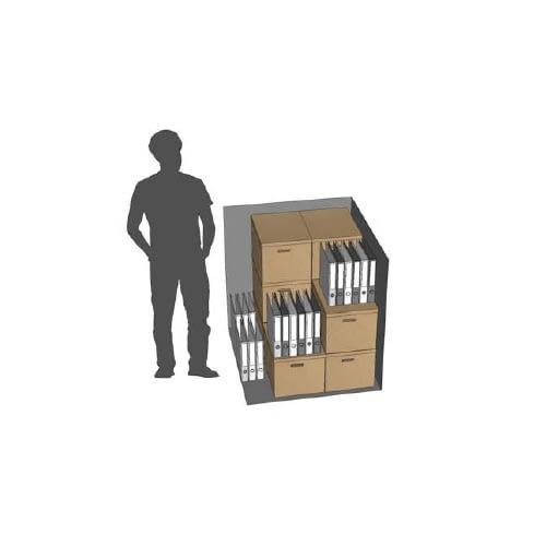Modélisation 3D d'un box de self-stockage XXS pour les entreprises - Maxi Stockage Uvrier/Sion (Valais)