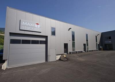 Rampe d'accès aux cellules de self-stockage - Maxi Stockage Uvrier/Sion (Valais)
